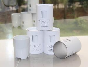 China Fashional White Gloss lamination Paper Cans Packaging with PPLids for Cup and Bowl Packagi on sale