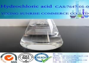 China HCL Hydrochloric Acid Chemical Additives In Food CAS 7647-01-0 Colorless Transparent Liquid on sale