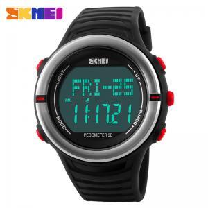 China Unisex Fitness Digital Sport Style Step Counter Night Light Wristwatch 3atm on sale
