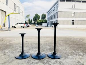China Modern Tulip Pedestal Bar Table Legs Powder Coated Outdoor Furniture on sale