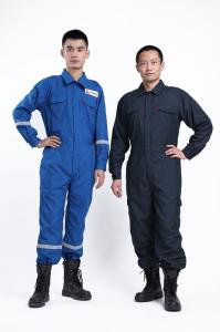 China Comfortable Cotton Flame Retardant Coveralls for Firefighter Uniform with Customized Color on sale