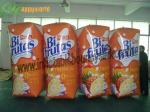OEM Colourful Inflatable Advertising Juice Box , Inflatable Coke Bottle 0.6mm PVC