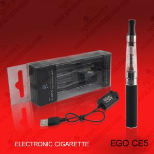 China Ego Electronic Ego Cigarette 1300mAh CE5 Clearomizer e-cigarette Atomizer with USB Charger Cable on sale