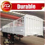 Shandong Fudeng 3 axles Sugarcane Loading Cargo Trailer 40T Fence Semi Trailer for sale