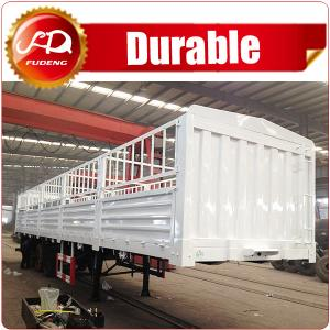 China Shandong Fudeng 3 axles Sugarcane Loading Cargo Trailer 40T Fence Semi Trailer for sale on sale