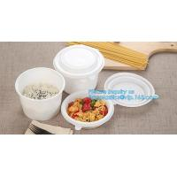 Custom printed disposable PLA hot soup bowls, kraft paper soup cup,Eco-Friendly disposable tableware sugarcane pulp bowl