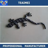 China Wall Lizard Custom Car Emblems Badges Carbon Fiber / Chrome Plastic on sale