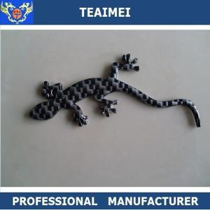 China Emparede la fibra de carbono de las insignias de los emblemas del coche del lagarto/el plástico de encargo del cromo on sale