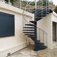 China Durable Outdoor Galvanized Metal Spiral Staircase Prefabricated Stairs on sale
