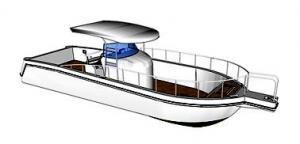 China 4-6 a pessoa recebeu o certificado de CCS, barco de pesca da proteção ambiental do novo tipo/barco de funcionamento para a venda on sale