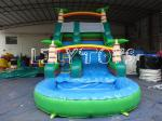China Lilytoys Green Park Inflatable Water Slide Customize Pvc With Palm Tree wholesale