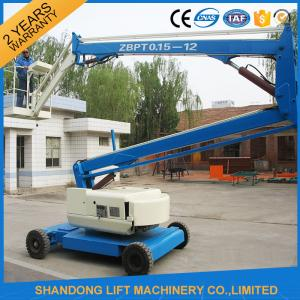 China 360 Rotation Self Propelled Trailer Mounted Boom Lift with Hydraulic Crank Arm on sale
