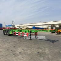 Tri axle 40 ft 20ft tank container chassis semi trailer manufacturer 3 axle container trailer chassis trailer for sale |