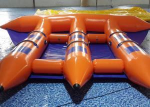 China PLATO 0.9mm PVC Tarpaulin Inflatable Fly Fishing Boats Flying Banana Boat 4 Fun on sale