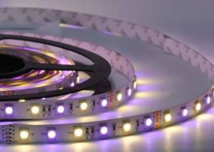 China Flexible LED Strip Light SMD 5050 RGBW 12V / 24V With 12mm FPC Width UL Approved on sale