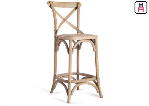 Wondrous French Style Solid Wood Restaurant Bar Stools Rustic Rattan Machost Co Dining Chair Design Ideas Machostcouk