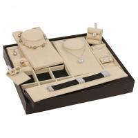 China Luxury Leatherette Jewelry Storage Trays Environmental PU Painting Free Design on sale