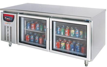 Horizontal Glass Door Bar Refrigerator Fridge Cooler Panel Type