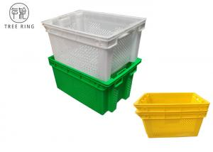 China Colored Euro Perforated Hygienic Plastic Packing Crates 630 * 420 * 315 Mm HDPE on sale