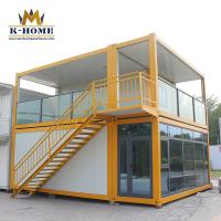 China Rock Wool Modular Prefabricated Houses Flat Pack Container House  Easy Assembly on sale