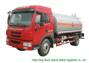 China FAW Gasoline Tanker Truck For Vehicle Refueling With PTO Fuel Pump And Dispenser on sale