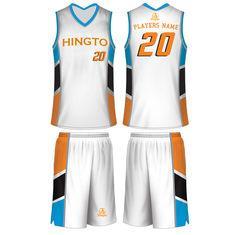 94b039d74 White   Blue   Orange   Black Customized Breathable Sublimated Basketball