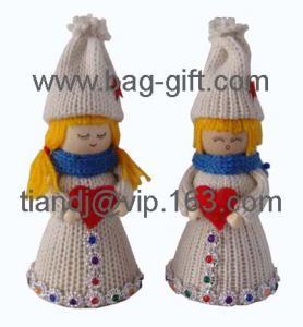 China yarn & felt christmas decoration on sale