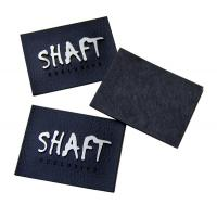 Garment Embossed Leather Patches Healthy In Gold / Silver / Gun