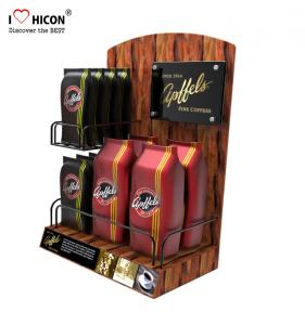 China Lure Clients Counter Display Racks Coffee Bag Promotional Retail Food Display Countertop on sale