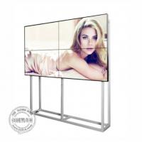 Full HD LCD Digital Signage Seamless Video Wall 55 Inch Ultra Thin Bezel With Software Bracket