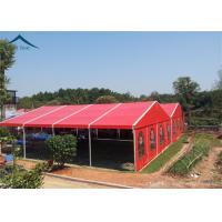 Aluminium Frame Large Wedding Tents Red Roof Beautiful Lining