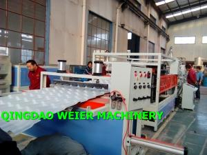China High Output Corrugated Sheet Machine PVC UPVC Bamboo Roofing Tiles on sale