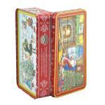 Портативный подарок рождества прикрепил на петлях красочные коробки олова подарка коробки металла для головоломки