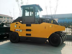 China Oriemac XCMG 2 6 Ton Concrete Construction Equipment Rubber Tire Road Roller XP263 Yellow WEICHAI Engine on sale