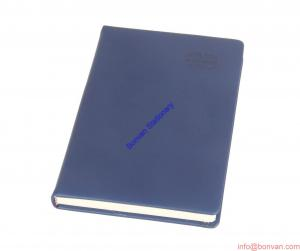 China logo embossed leather writing notebook,logo printed notebook,gift botebook on sale