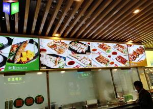 China Snap Frame Illuminated Menu Boards Lightbox Menu Display A0 - A4 Size on sale
