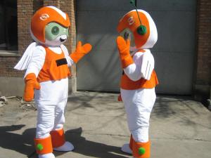 Quality handmade adult plush customized mascot costumes of full body for sale