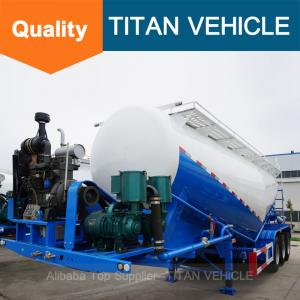 China Lime Powder Trailer Tanker , Bulk Fly Ash Trailer ,  Land plaster tank trailer | Titan Vehicle on sale
