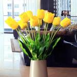 China Wholesale Artificial Flowers Yellow Tulips wholesale