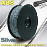 High strength ABS 3d Printer Filament 1.75mm Silver Filament Materials