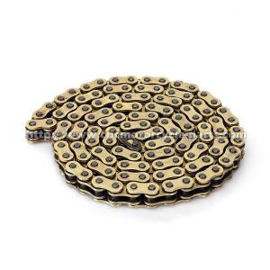 China Copper Plated Motorcycle Drive Chain Yamaha Gold Rear Dirt Bike Chain on sale