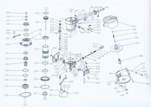 Pneumatic coil nailer, nail gun, Silver, BeA nd, CN70 ... on