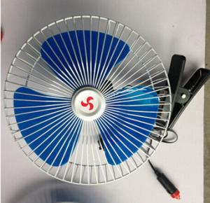 China 10 inch12V Car Fan with Oscillate Switch, Speed Switch and Mounting Clamp on sale