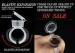 Transparent ECO Ring Cup Tattoo Ink Cup With Cap Semi Permanent Pigment Cup