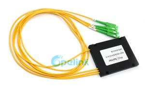 China 1x3 Configuration Type Fiber Optic PLC Splitter SC/APC 3.0mm Optical Fiber Cable on sale