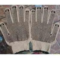 10 guages with one side PVC dots cotton knit gloves