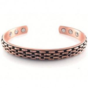 China Bracelete de cobre magnético do punho do bracelete de aço inoxidável da pulseira 316 para a saúde on sale