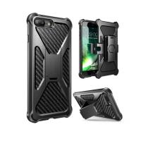 Rubber Bumper Cell Phone Cases IPhone 8 Compatible With Card Slot Holder