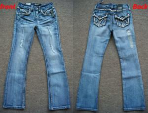 China wholesale 6027 pieces American youth Old & Frazzle Style Denim Jeans in cheap price on sale