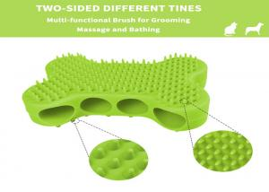 China Dog Bath Brush Rubber Bushes for Dogs Cats Pet Short and Long Hair - Soft Flexible Great for Grooming Massaging on sale